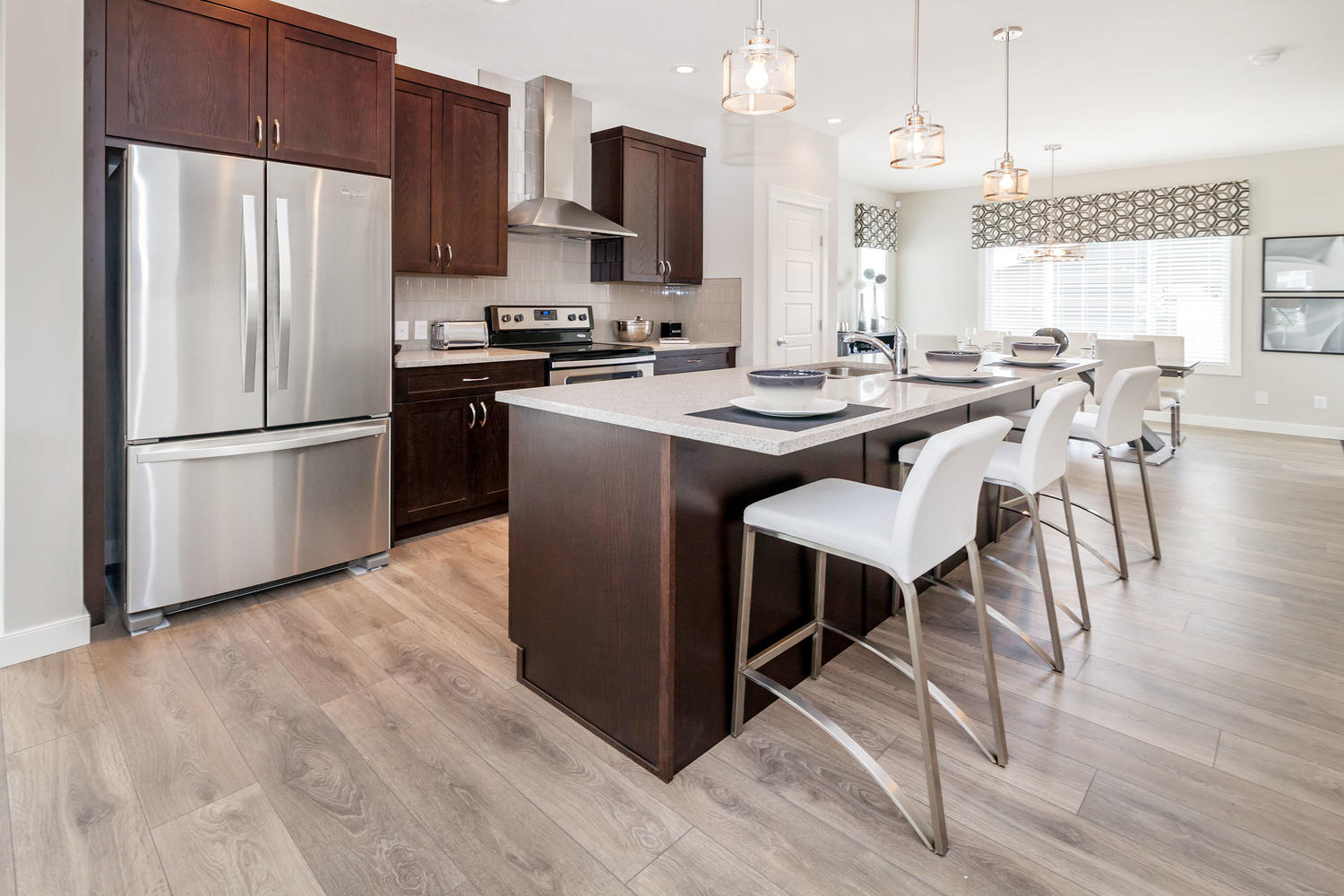 kitchen design in the pacesetter zero lot line home