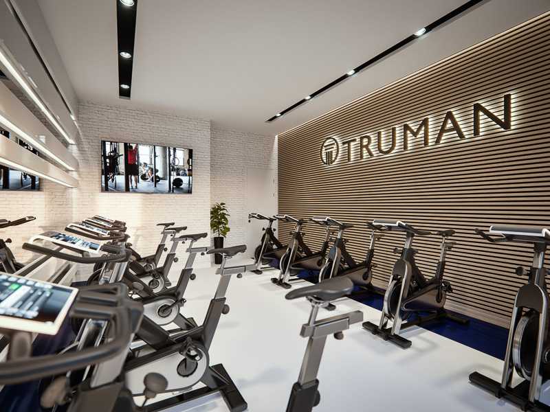 the spin studio, one of the many amenities in Legends Apartments at Cornerstone