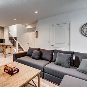 The Luxuria Townhome Basement Area