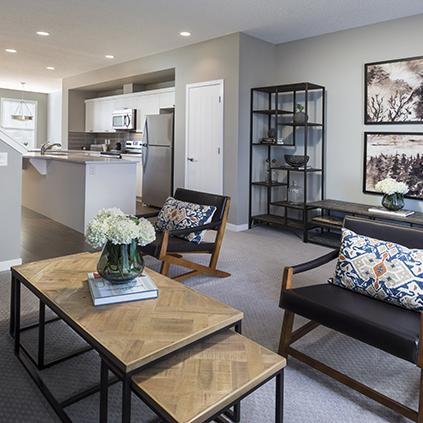 The Carter Duplex Showhome Livingroom