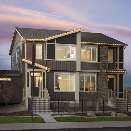 The Exterior View of the Lola Duplex Model Showhome