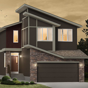 The Henderson II Front Drive Home Exterior View