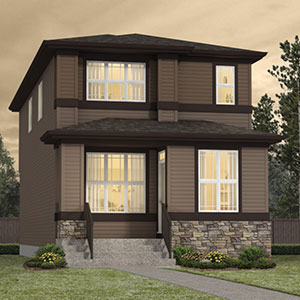 The Exterior View of the Morrison Zero Lot Line Laned Home