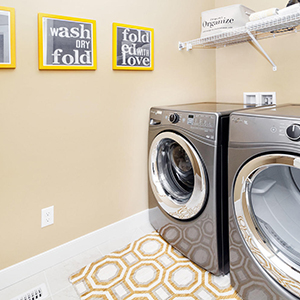 pacesetter front drive home model laundry room