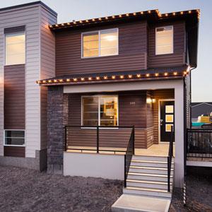 The Shane Homes Duplex Exterior View in Cornerstone