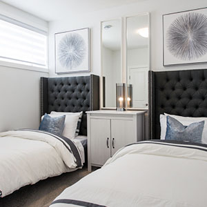 Luxuria townhome spare bedroom
