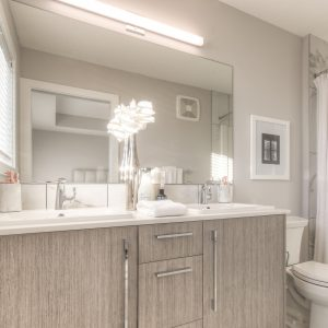 the bathroom in the Truman duplex show home