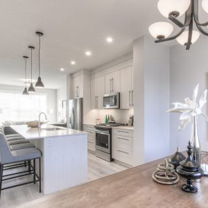 The kitchen of the Truman Homes Duplex Show Home