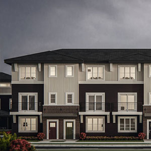 Exterior View of Yorke Townhomes