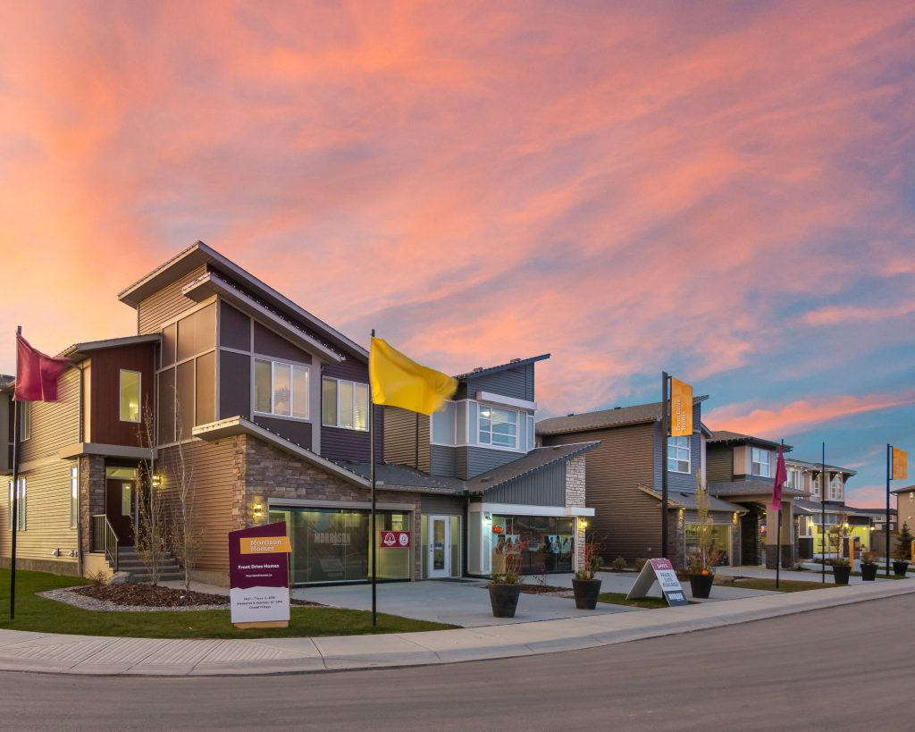 Homes in northeast calgary community of cornerstone that demonstrate architectural guidelines